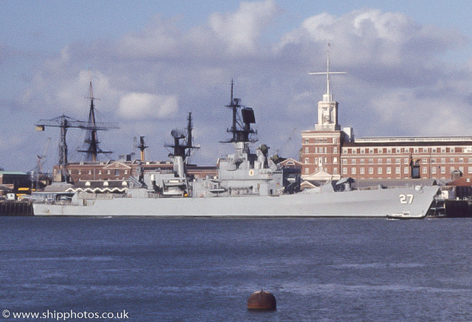 Josephus Daniels pictured at Portsmouth Naval Base on 26th August 1985