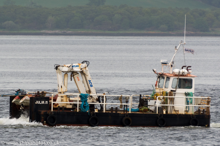 Julia M pictured passing Greenock on 4th June 2015