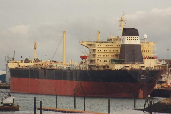 Khania pictured in Southampton on 16th August 1992