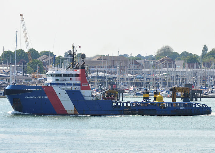 Kingdom of Fife pictured departing Portsmouth Harbour on 7th June 2013