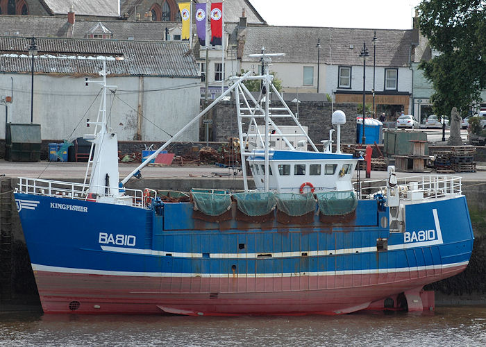 Kingfisher pictured at Kirkcudbright on 18th July 2009