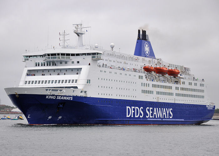 King Seaways pictured departing North Shields on 4th June 2011