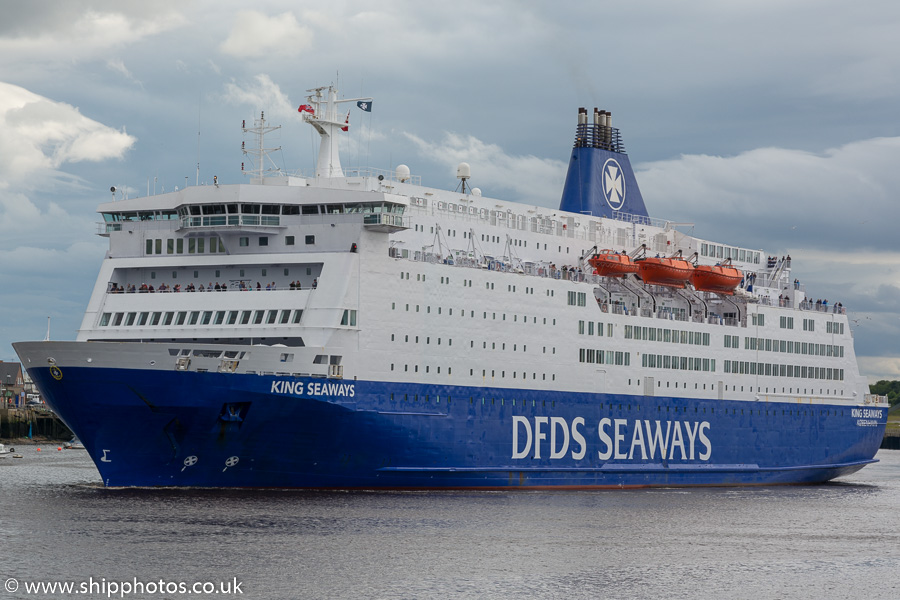 King Seaways pictured passing North Shields on 1st July 2017