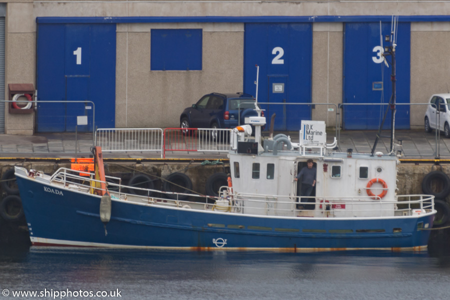 Koada pictured at Lerwick on 21st May 2015
