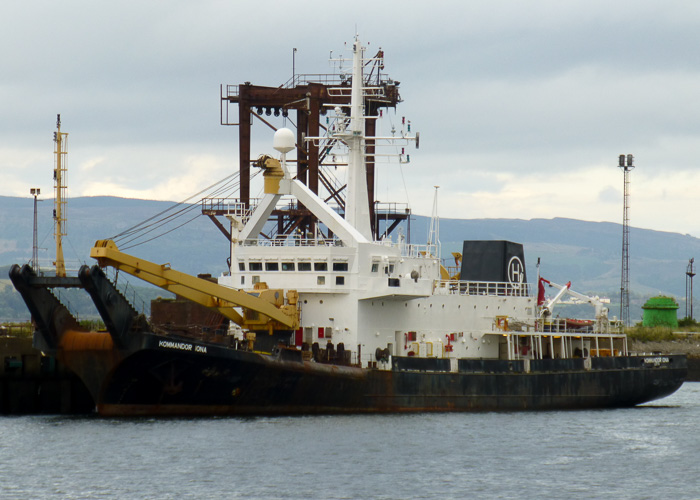 Kommandor Iona pictured in the Great Harbour, Greenock on 13th August 2014