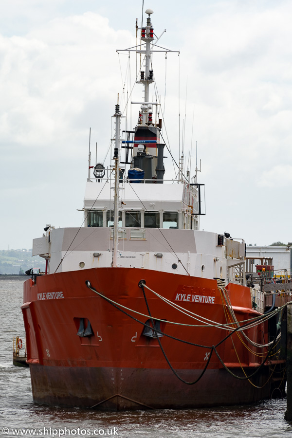 Kyle Venture pictured fitting out at Port Glasgow on 7th June 2015
