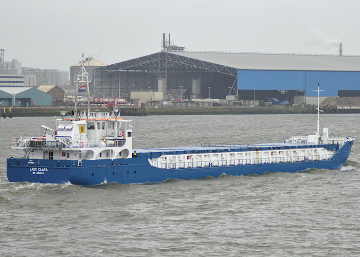 Lady Clara pictured passing Vlaardingen on 25th June 2011