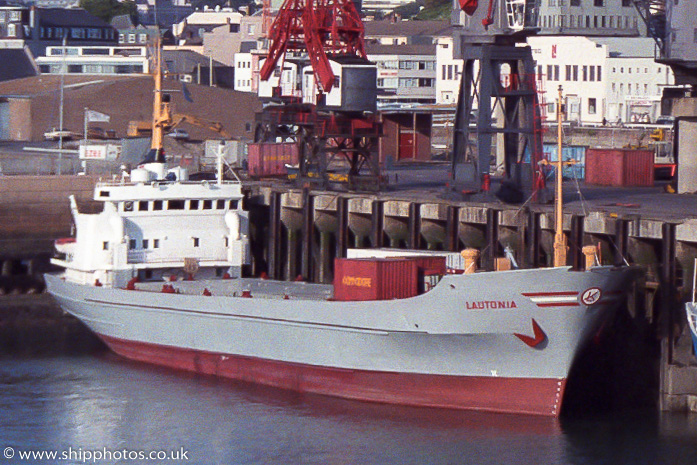 Lautonia pictured at St. Helier on 22nd August 1989