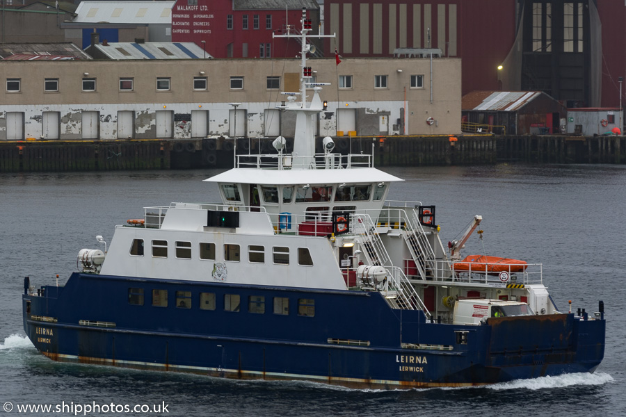 Leirna pictured at Lerwick on 21st May 2015