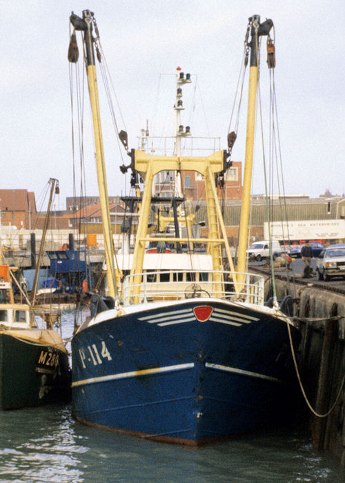 Liliane J pictured in Camber Dock, Portsmouth on 10th March 1990