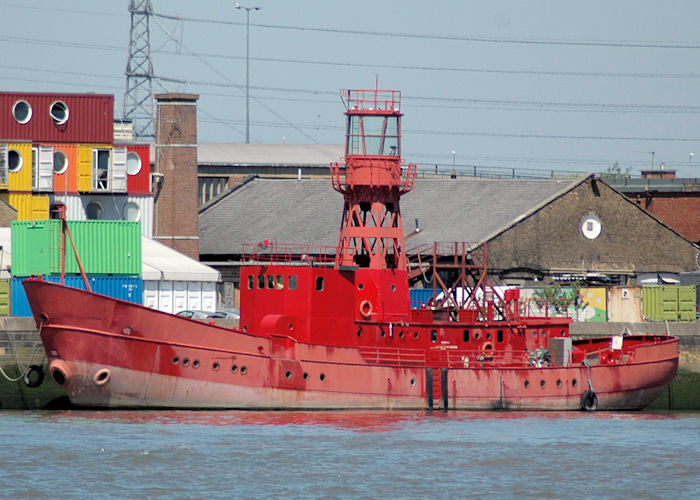 Light Vessel No. 93 pictured at Trinity Buoy Wharf, London on 23rd May 2010