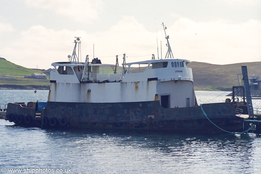 Lyderhorn pictured at Scalloway on 11th May 2003