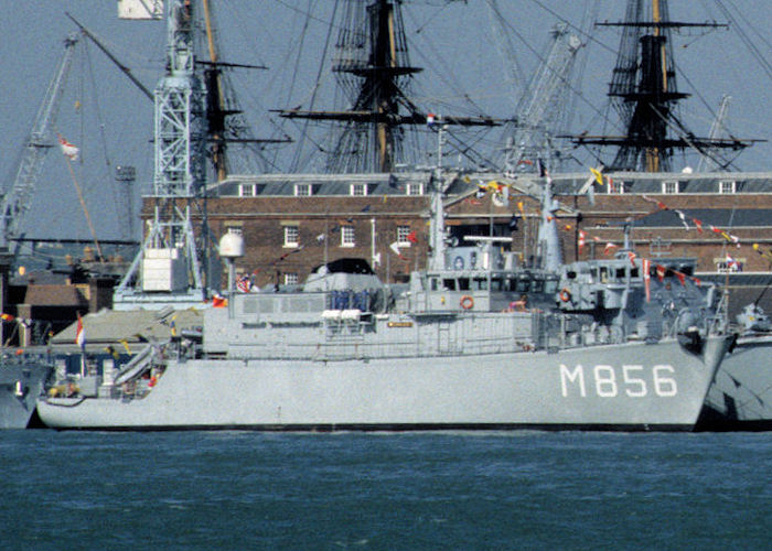 Maassluis pictured in Portsmouth Naval Base on 8th May 1996