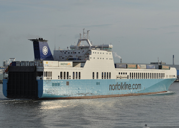 Maas Viking pictured departing Vlaardingen on 24th June 2011