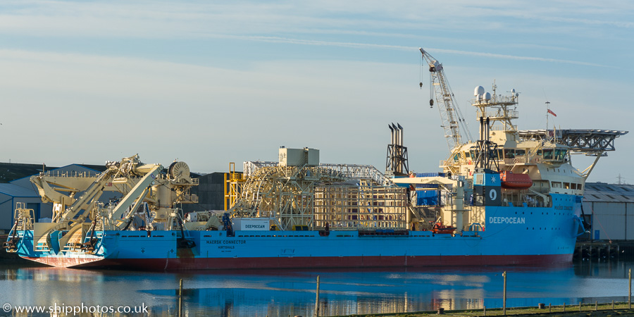 Maersk Connector pictured at Blyth on 27th December 2016