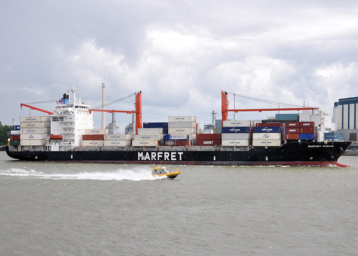 Marfret Marajo pictured passing Vlaardingen on 22nd June 2012