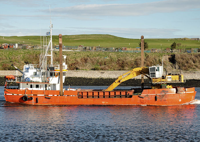 Margrethe Fighter pictured arriving at Aberdeen on 6th May 2013