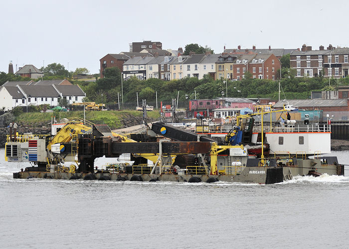 Maricavor pictured arriving at North Shields under tow on 4th June 2011