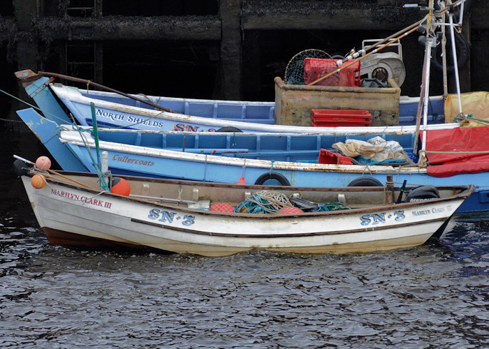 Marilyn Clark III pictured at the Fish Quay, North Shields on 27th August 2012