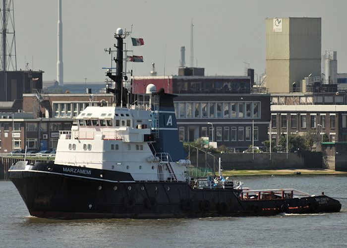 Marzamemi pictured passing Vlaardingen on 27th June 2011
