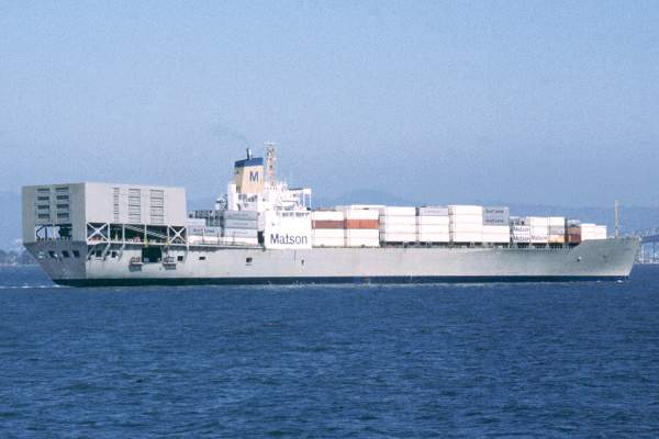 Matsonia pictured in San Francisco Bay on 13th September 1994