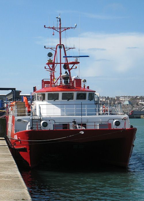 Meridian pictured in Holyhead on 24th April 2008