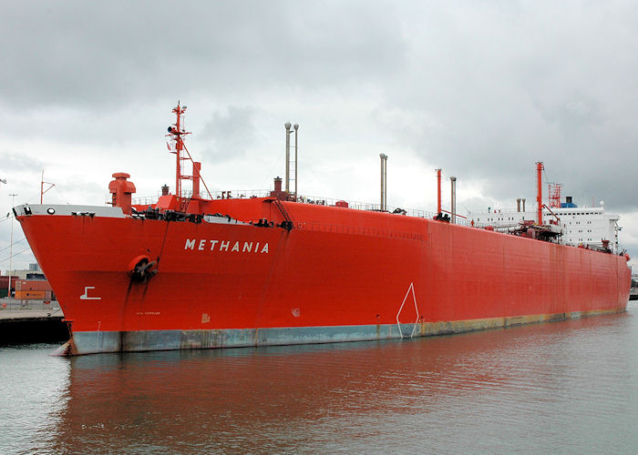 Methania pictured laid up at Southampton on 14th August 2010