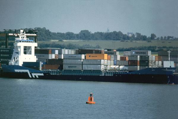 Mir pictured in Felixstowe on 30th May 1998