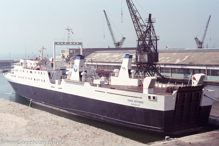 Monte Rotondo pictured at Marseille on 13th August 1989
