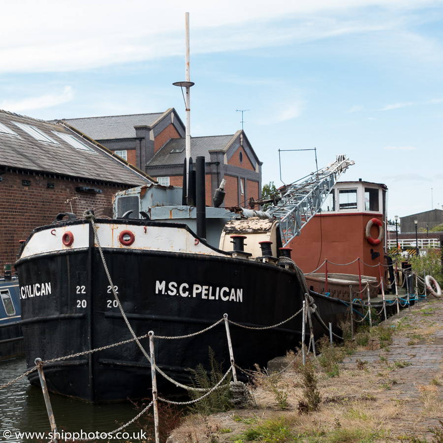 MSC Pelican pictured at the National Waterways Museum at Ellesmere Port on 29th August 2015