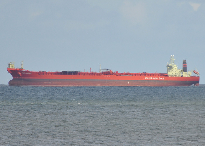 Nancy Knutsen pictured at anchor off Aberdeen on 15th April 2012