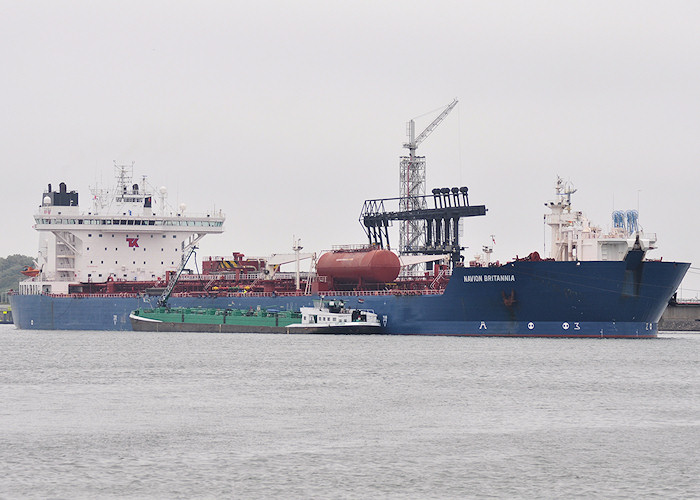 Navion Britannia pictured in 8e Petroleumhaven, Europoort on 26th June 2011