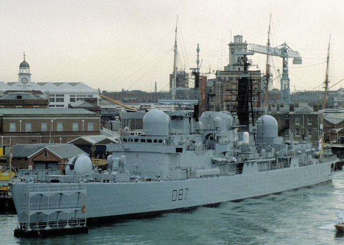 Newcastle pictured in Portsmouth Naval Base on 17th August 1997