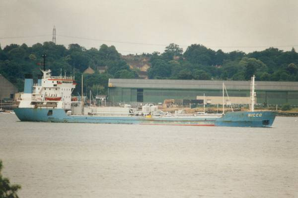 Nicco pictured arriving in Southampton on 31st July 1996