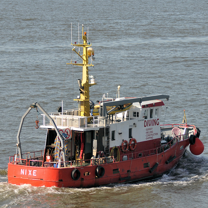 Nixe pictured passing Vlaardingen on 27th June 2011