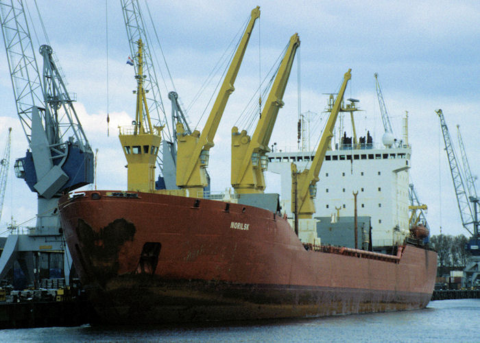 Norilsk pictured in Rotterdam on 20th April 1997