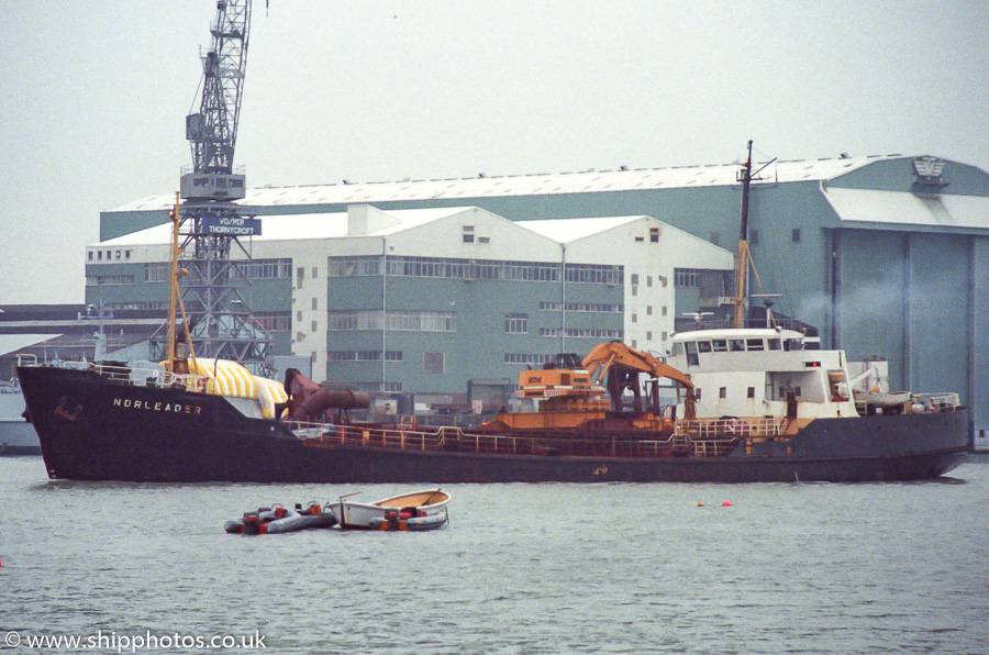 Norleader pictured arriving at Southampton on 12th March 1989