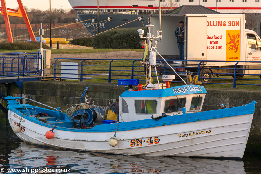 North Eastern pictured at Royal Quays, North Shields on 27th December 2016