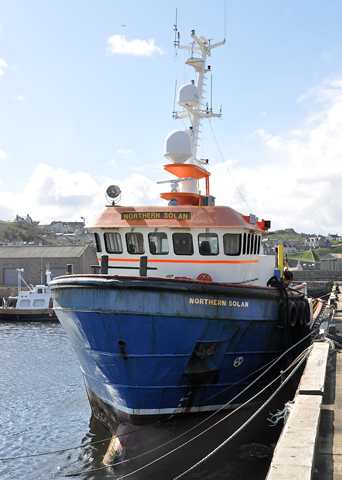 Northern Solan pictured at Macduff on 15th April 2012