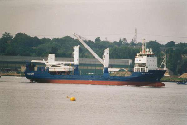 North King pictured arriving in Southampton on 10th June 2000