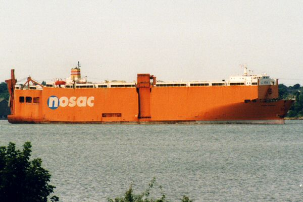 Nosac Ranger pictured arriving in Southampton 8th August 1995