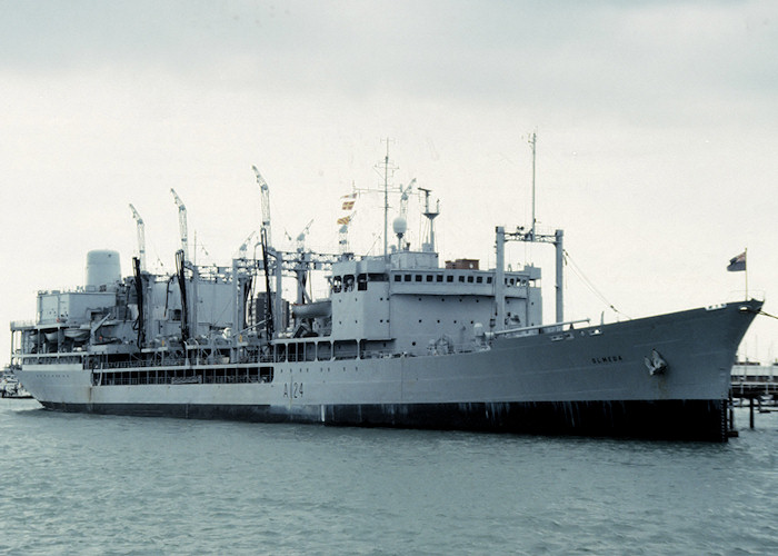 Olmeda pictured at Gosport on 17th July 1988