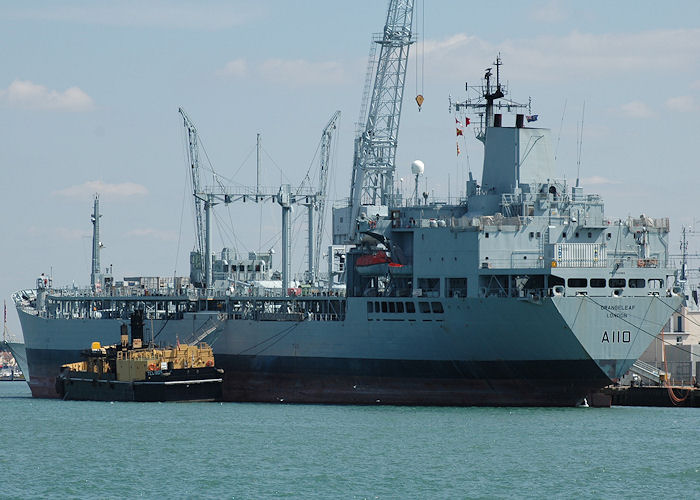 Orangeleaf pictured in Portsmouth Naval Base on 8th August 2006