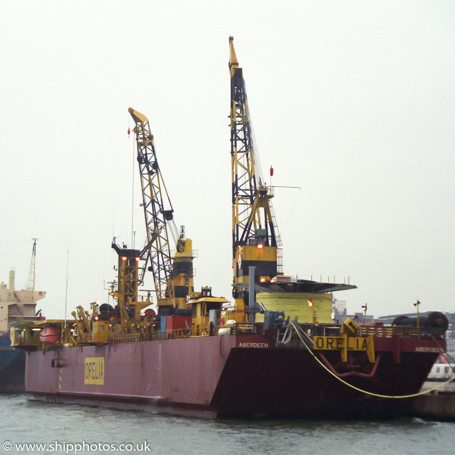 Orelia pictured at Southampton on 12th March 1989