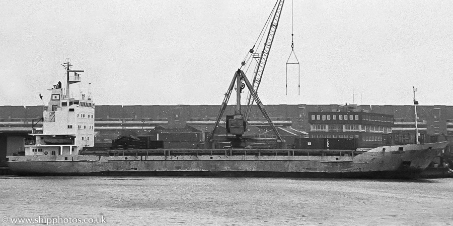 Ouarzazate pictured at Albert Johnson Quay, Portsmouth on 16th April 1989