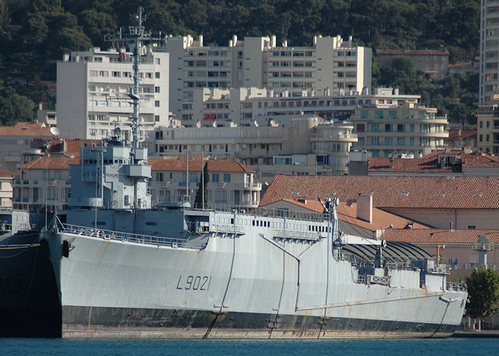 Ouragan pictured laid up at Toulon on 9th August 2008