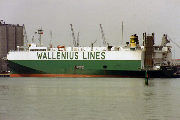 Parsifal pictured in Southampton on 30th July 1992