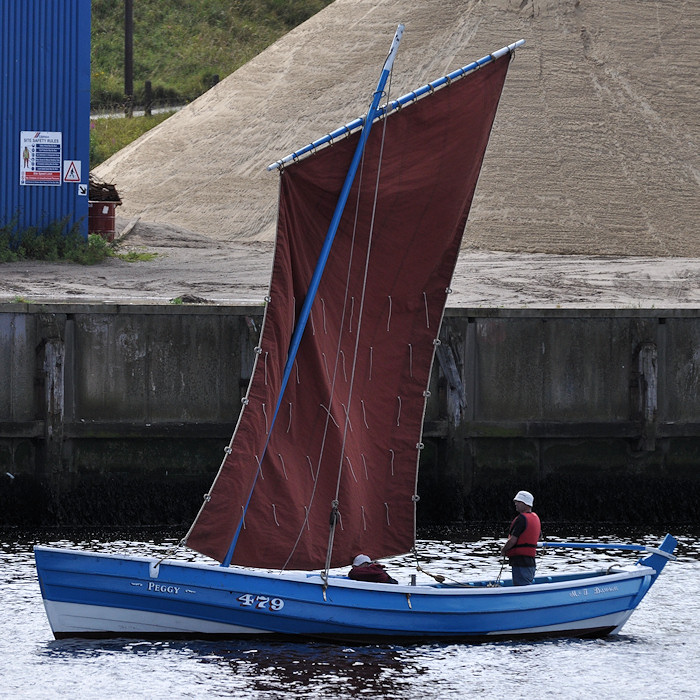 Peggy pictured on the River Tyne on 26th August 2012