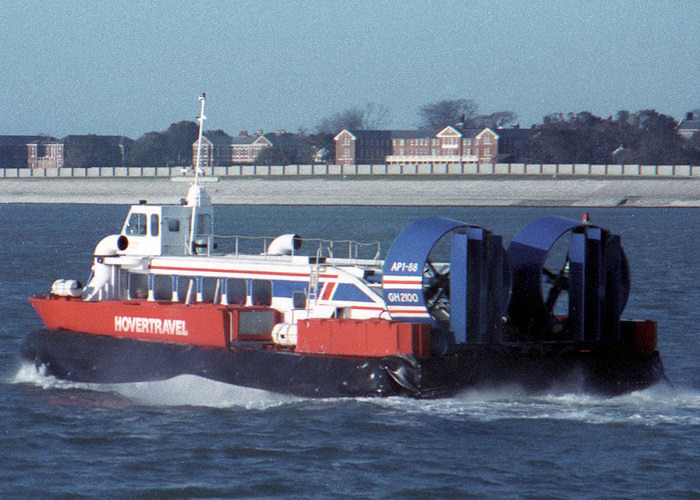 Perseverance pictured departing Southsea on 7th February 1988