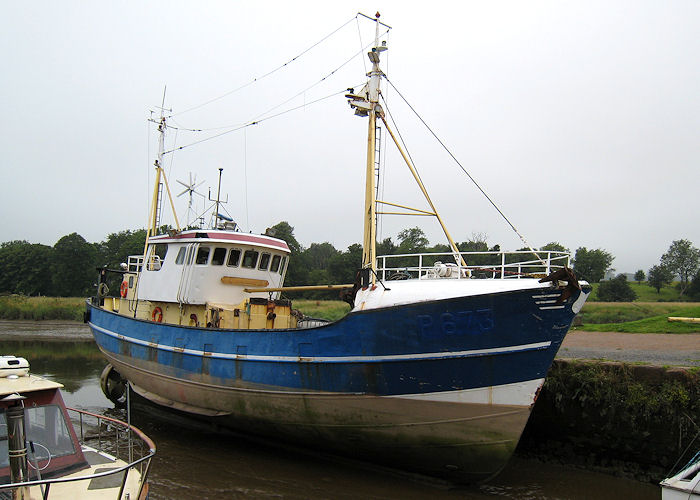 Petronella pictured at Kingholm Quay, Dumfries on 27th July 2008
